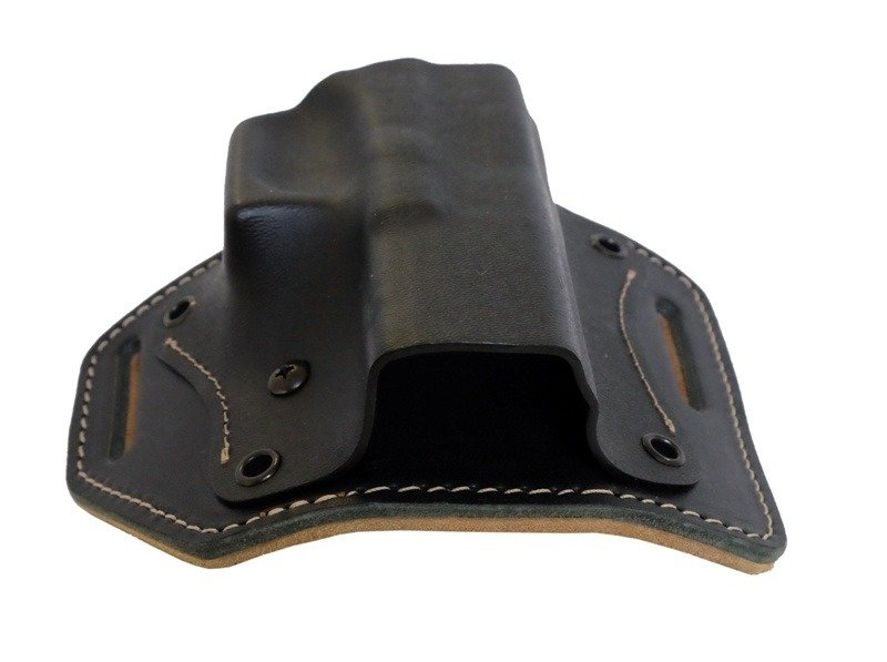 KYDEX OWB Belt Holster With Leather Back Dual Clip Colt 1911