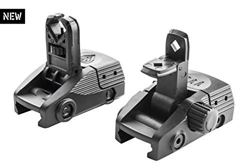 BGF + BGR CAA Picatinny Front and Rear Backup Flip-Up Sights for Left and Right Handed Users