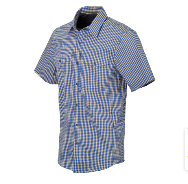Covert Concealed Carry Short Sleeve Shirt - Blue