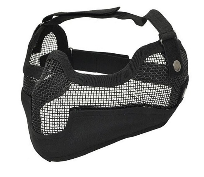 Face protector grid mask, Black