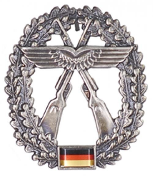 GENUINE GERMAN ARMY METAL BERET BADGE ´LUFTWAFFEN-SICHERUNG´
