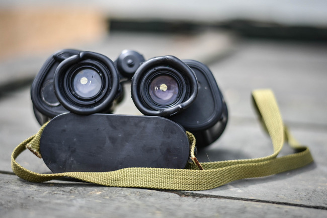 Military Binoculars (infrared filter),  IOR 7x40, Romanian Army Surplus