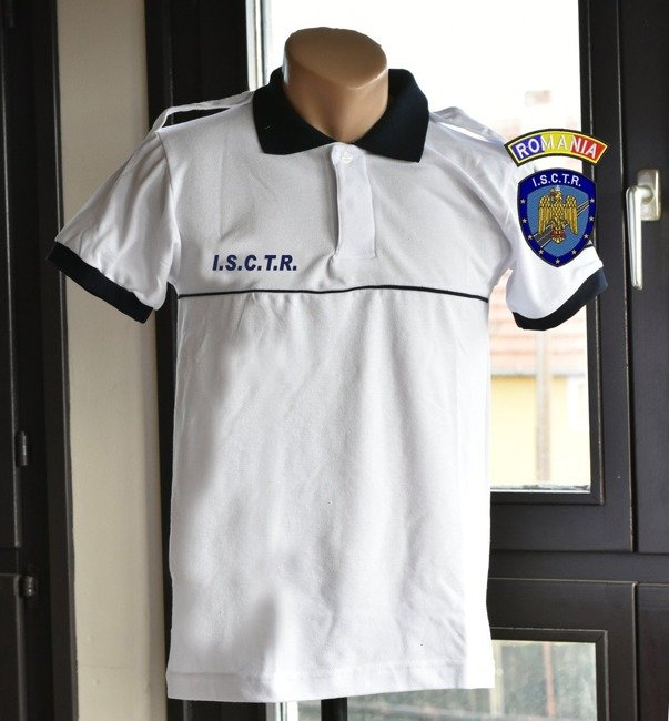 Polo T-Shirt, White Police shirt