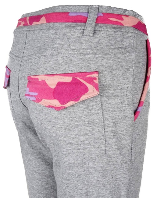 Sweatpants GreyPinkCamo- Double Red