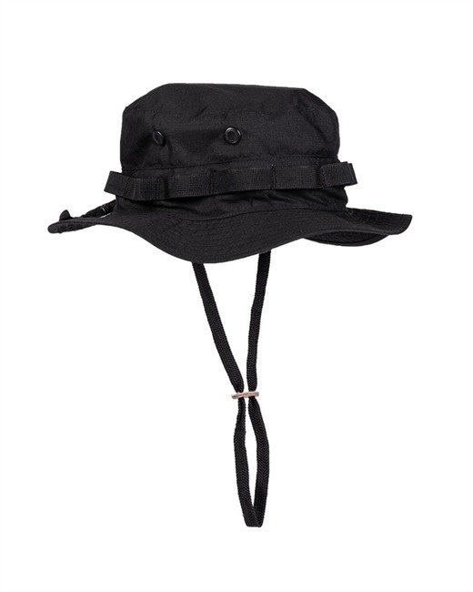 US BLACK GI BOONIE HAT